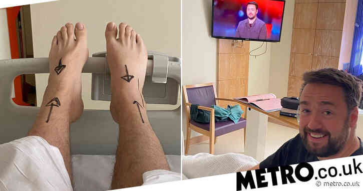 Jason Manford shares updates from hospital as he prepares to undergo surgery