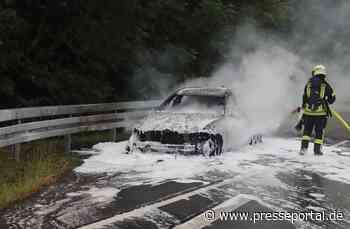 POL-HX: Autobrand: B 64 mehrere Stunden gesperrt