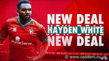 Hayden White puts pen to paper on new deal - saddlers.co.uk