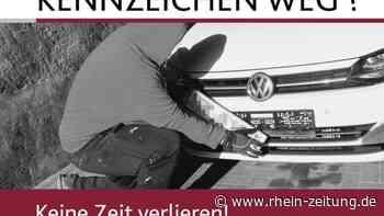 """""""Kennzeichen weg?"""" – Die Polizei Boppard informiert über aktuelle Plakataktion - Rhein-Zeitung"""