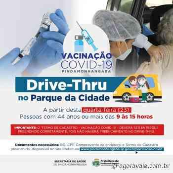 Pindamonhangaba dá inicio ao drive-thru de vacinação no Parque da Cidade - AgoraVale