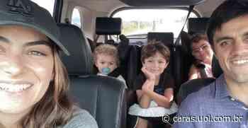 Mariana Uhlmann mostra Felipe Simas e os filhos alimentando passarinhos: Que experiência - CARAS Brasil