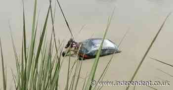 Two bodies in two cars emerge from Ganges canal in India after desilting - The Independent