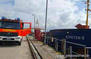 FW-Kiel: Schwelbrand auf Frachtschiff