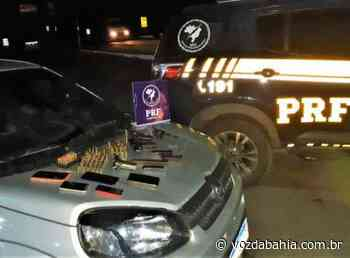 Itabuna: PRF prende 5 com carro roubado; grupo levava pistola, armas e 96 munições - Voz da Bahia