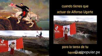 Quiso ser 'Alfonso Ugarte' y se lanzó con su caballo, pero escena termina mal [VIDEO] - ElPopular.pe
