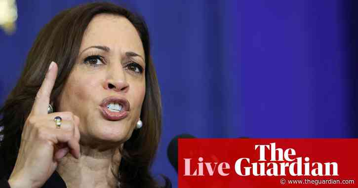 Kamala Harris to visit US-Mexico border for first time as vice-president – live