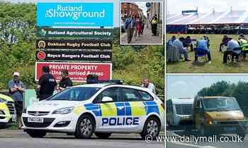 Yobs loot shops and refuse to pay for food on another day of chaos at Rutland traveller festival - Daily Mail