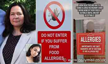 Outraged food allergy sufferers condemn cafes and restaurants that are BANNING them from entering - Daily Mail