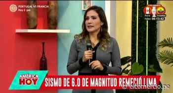 Alvina Ruiz contó cómo fue enfrentar fuerte sismo en plena emisión en vivo de Canal N - El Comercio Perú