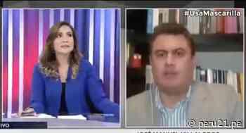Así reaccionó la conductora Alvina Ruiz en programa en vivo al registrarse el temblor [VIDEO] - Diario Perú21