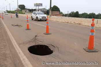 Buraco na BR-364 em Porto Velho oferece riscos de acidentes - Diário da Amazônia