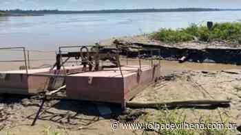 Porto Velho: flutuante da Caerd é furtado e gera preocupação no abastecimento de água ⋆ Folha de Vilhena - Folha de Vilhena