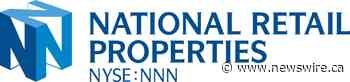 National Retail Properties, Inc. Announces Expanded $1.1 Billion Unsecured Credit Facility