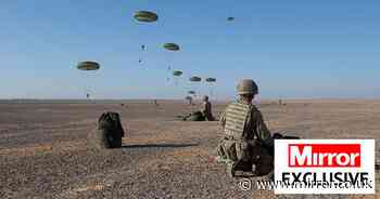 Elite UK troops in historic Middle East airdrop show of force to ISIS & Russia