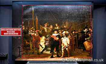 Over 300 years after being trimmed, Rembrandt's Night Watch painting is back to its original size