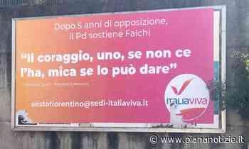 Danneggiato il manifesto di Italia Viva Sesto Fiorentino - piananotizie.it