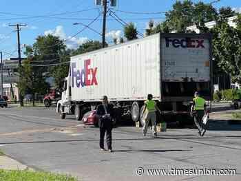 Schenectady police investigating car-truck crash