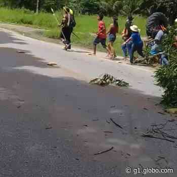 Protesto de indígenas interdita trecho da BR-101 em Joaquim Gomes, AL - G1