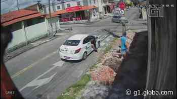 Taxista é suspeito de participar em assalto a padaria em Fortaleza; vídeo - G1
