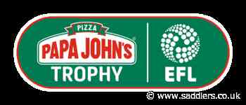 Saddlers to play Northampton and Forest Green in Papa John's Trophy - saddlers.co.uk