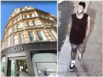 Detectives hunt man in a vest after brick thrown Northampton town centre windows - Northampton Chronicle and Echo