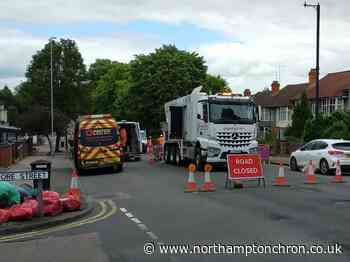 Burst water main still blocking busy route to Northampton town centre - Northampton Chronicle and Echo