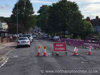 Main route in and out of Northampton town centre closed following burst water main - Northampton Chronicle and Echo