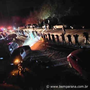 Guarda Municipal de Campo Largo usa armas de borracha para dispersar aglomeração na Estrada da Itambé - Bem Pa - Bem Paraná