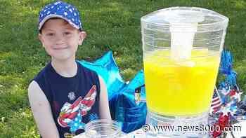 Winona boy pours lemonade for Hunts for Heroes - News8000.com - WKBT