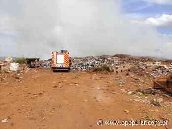 Aterro sanitário de Goianira pega fogo - Goiânia - O Popular