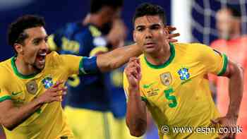 Brazil scores late, beats Colombia in crazy Copa win