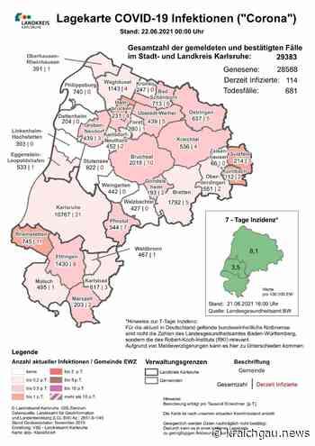 Aktuelle Corona-Zahlen am 22. Juni: Coronavirus in Bretten, dem Landkreis Karlsruhe sowie Rhein-Neckar und Enzkreis - Bretten - kraichgau.news