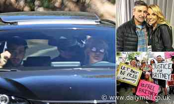 EXCLUSIVE PICTURES: Britney Spears and boyfriend are seen together after conservatorship hearing