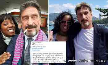 John McAfee's wife posted Father's Day message alleging U.S. authorities wanted him to die in prison
