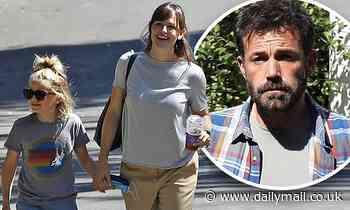 Jennifer Garner pays a visit to her ex Ben Affleck with son Samuel, nine, in the Pacific Palisades