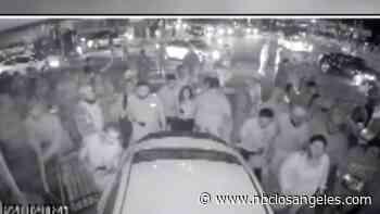 Watch: Street Takeover Crowd Scatters as BMW Slams Into Sylmar's El Tarasco Restaurant - NBC Southern California