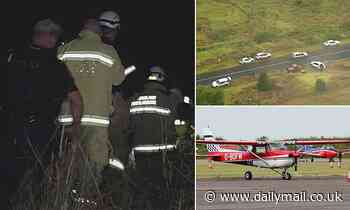 Bodies of two men killed in a light plane crash north of Brisbane recovered from wreckage