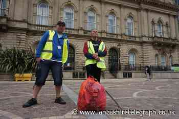 Blackburn litter pick ends with song and dance outside town hall