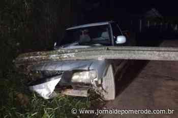 Acidente de trânsito é registrado na Estrada Otto Mohr - Jornal de Pomerode