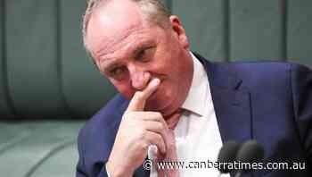 Joyce back in parliament after virus scare - The Canberra Times