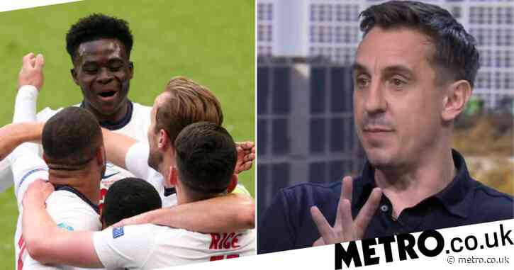 Gary Neville picks his England team to face Germany in Euro 2020 last 16 tie