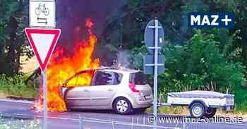 Renault brennt aus – Verkehrschaos auf der Straße zwischen Marwitz und Hennigsdorf - Märkische Allgemeine Zeitung