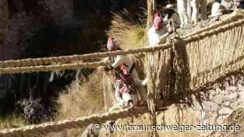 Letzte Inka-Seilbrücke in Peru wieder begehbar