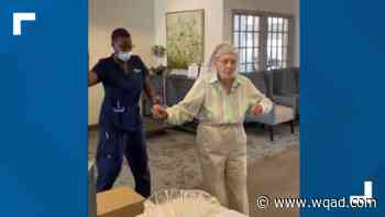 104-year-old Assisted Living resident makes waves with dance - WQAD.com