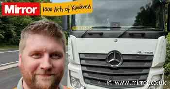 Hero truck driver helped save man's life by parking under motorway bridge