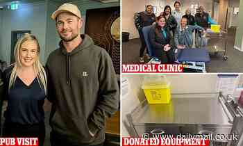 Chris Hemsworth donates $10,000 to an Armidale, NSW, medical clinic then hits the pub