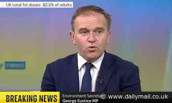 George Eustice vows to ditch face masks as soon as they are not compulsory