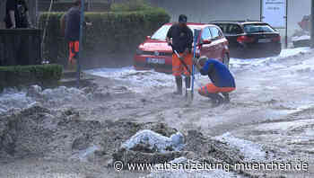 Heftiges Gewitter: Irre Hagelmassen in Ottobrunn sorgen für weiße Straßen - Abendzeitung