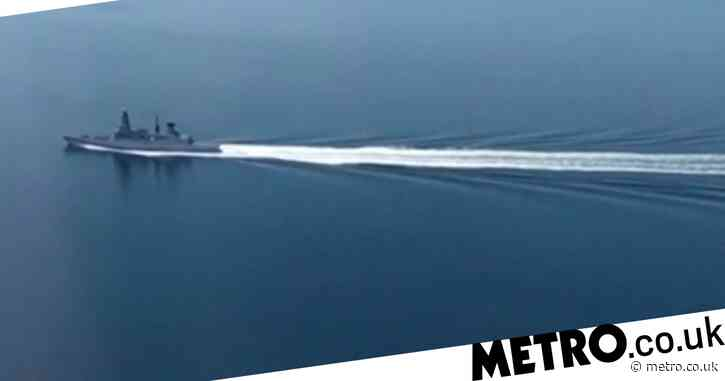 Russia releases video it says shows Navy ship being 'chased out' of territory